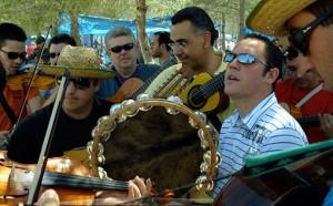 La Ronda de Motilleja en la romería de San Jorge de Madrigueras. Abril de 2008.