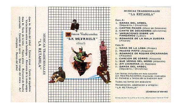 """Parte exterior del cassette de """"La Retahila"""""""