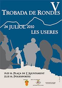 Cartel de la V Trobada de Rondes Tradicionals. Useres (Castellón)